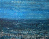 image of acrylic painting Blue Dawn by Carron Berkes