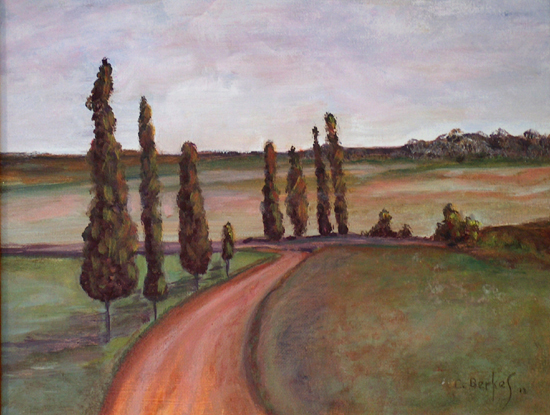 image of acrylic painting Country Road by Carron Berkes