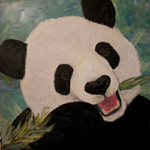 image of acrylic painting Endangered - Panda by Carron Berkes