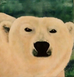 image of acrylic painting Endangered - Polar Bear by Carron Berkes