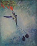 image of acrylic painting Endangered - Spatultail by Carron Berkes