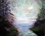 image of acrylic painting Inlet by Carron Berkes