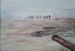 image of acrylic painting Long Beach by Carron Berkes