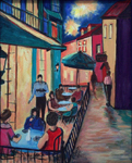 image of acrylic painting Night Café by Carron Berkes