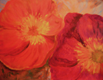 image of acrylic painting Poppy 2 by Carron Berkes