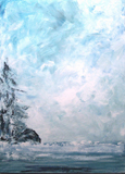 image of acrylic painting Westcoast Winter by Carron Berkes