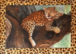 image of acrylic painting Leopard by Carron Berkes