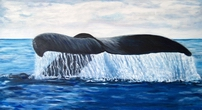 image of acrylic painting Westcoast Whale by Carron Berkes