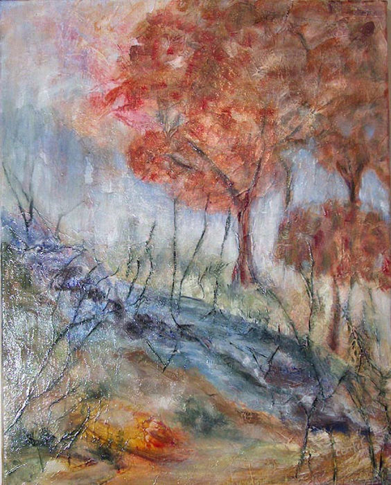 image of mixed media painting DayDream I by Carron Berkes