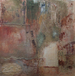 image of mixed media painting Earth Song by Carron Berkes