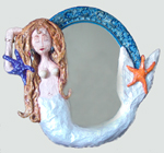 image of paper and glass sculpture Mermaid Mirror by Carron Berkes