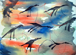 image of watercolour painting Abstract #4 by Carron Berkes