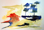 image of watercolour painting Abstract #5 by Carron Berkes