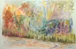 image of watercolour painting Spring Fair by Carron Berkes