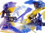 image of watercolour painting Abstract #3 by Carron Berkes